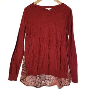 Lightweight Cable Sweater Tunic